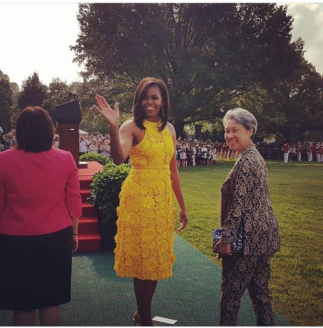 Michelle Obama welcomed the #Singapore #PrimeMinister Lee Hsien Loong and his wife Ho Ching to the White House today August 2, 2016