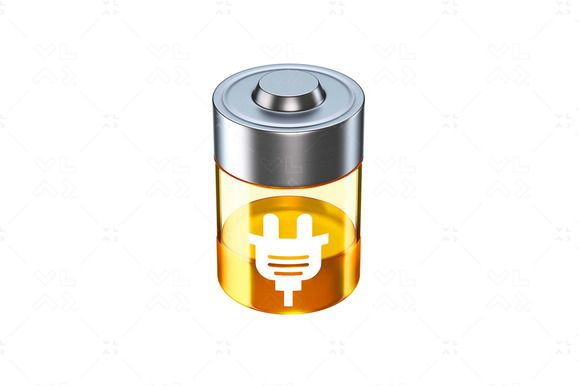 Charging Battery  3D Icon by vladut'shop on @creativemarket