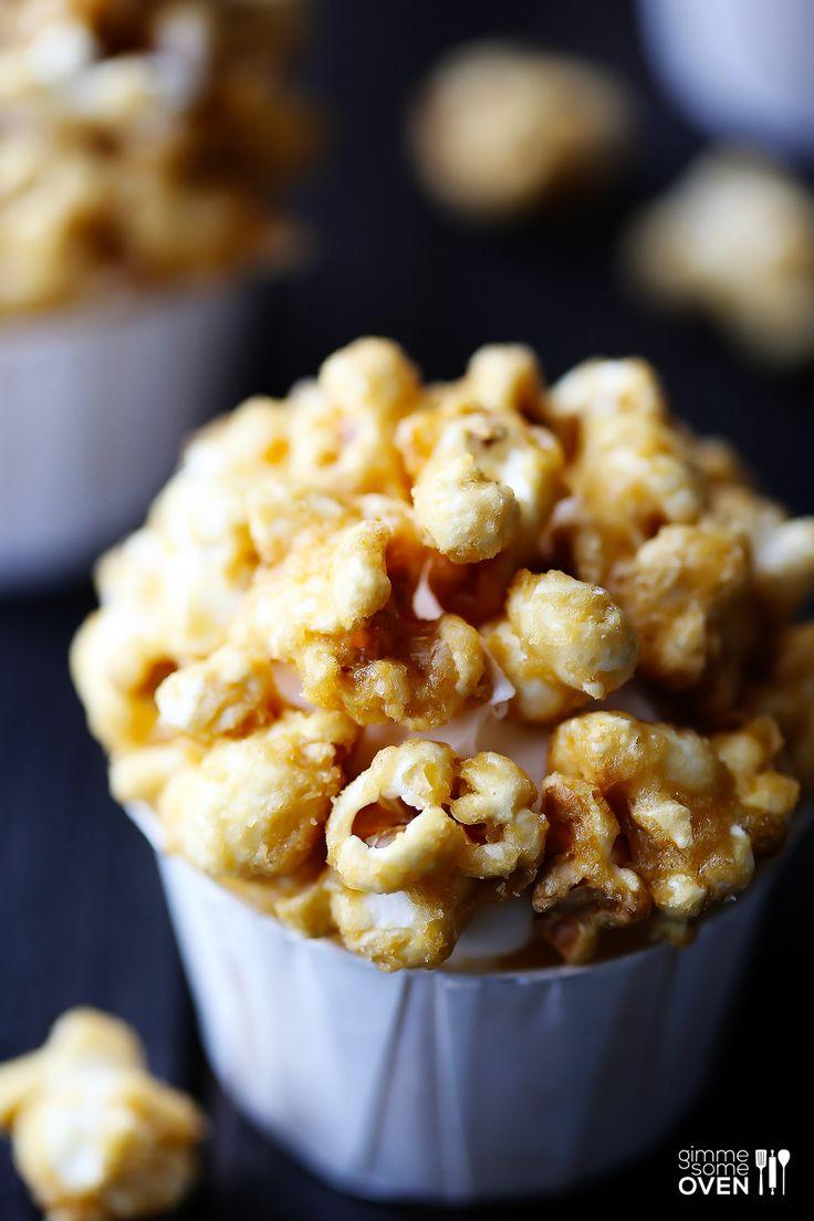 Caramel Corn Cupcakes   gimmesomeoven.com