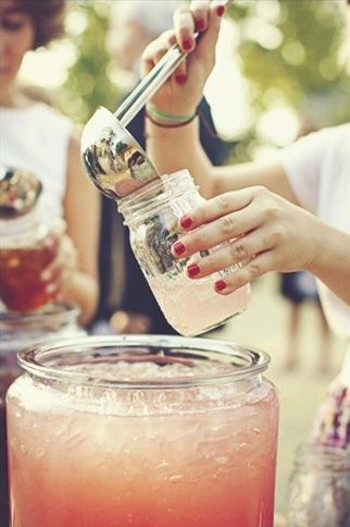 I love the mason jar idea!! always wanted to use those for my wedding:)