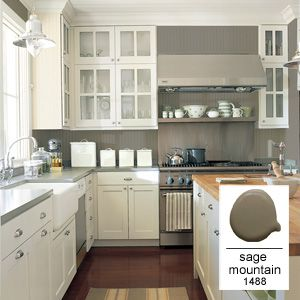 Benjamin Moore Sage Mountain #1488.  I like this one a lot ;-)
