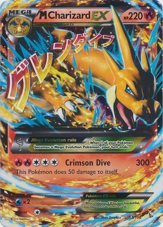 Pokemon X & Y Flashfire Ultra Rare Holo Mega Charizard-EX #13