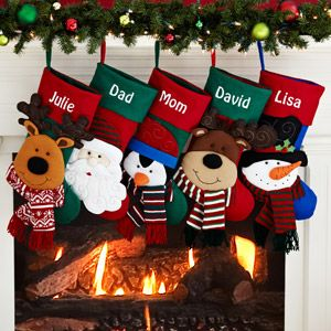 Personalized Happy Holiday Character Christmas Stocking