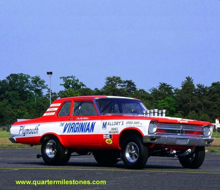 Vintage altered race car