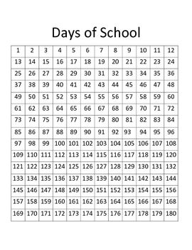 Students LOVE to see the year go by!! Mark off each day with a…