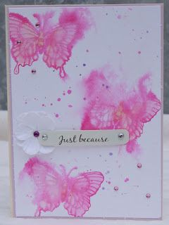 Watercolour butterflies with Distress Inks.