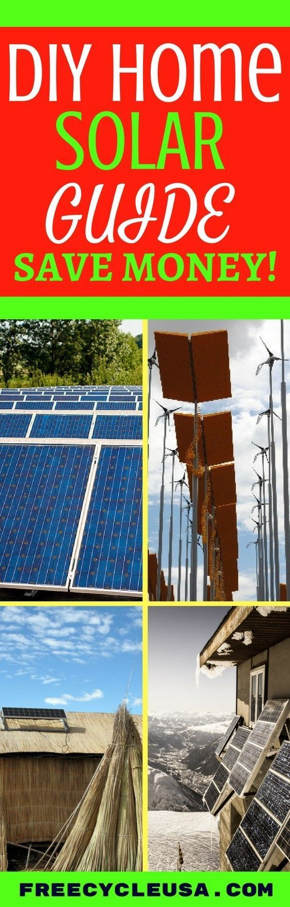 DIY HOME SOLAR ENERGY GUIDE AND WIND POWER GUIDE #HomeEnergySaving