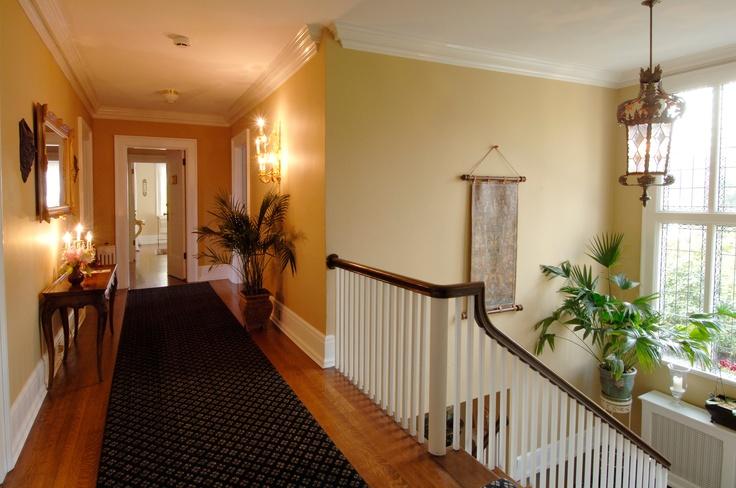 Upstairs hallway at the Villa Marco Polo