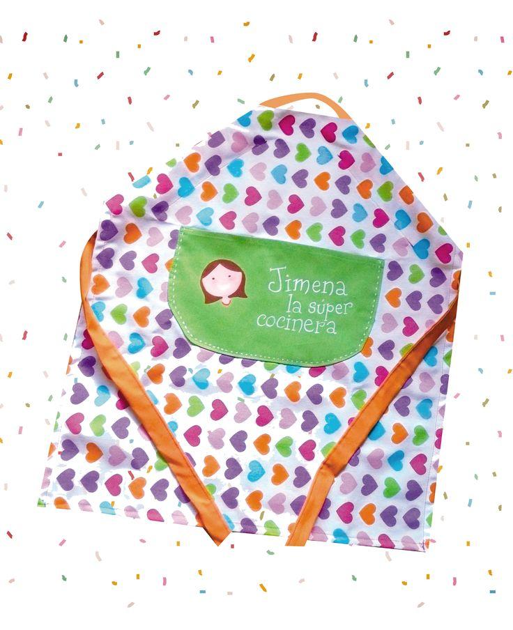Este delantal es un regalo de Primera Comunión para una niña que se llama Jimena. A ella le encanto!!
