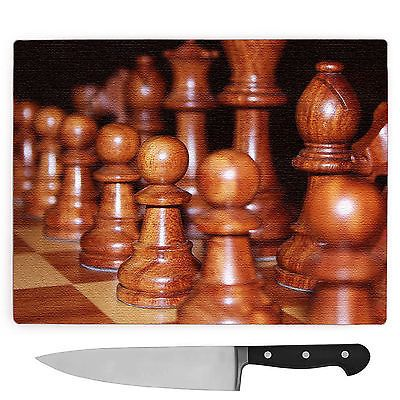 #Large glass chopping #board #worktop saver brown wood chess #board game,  View more on the LINK: http://www.zeppy.io/product/gb/2/192016233917/
