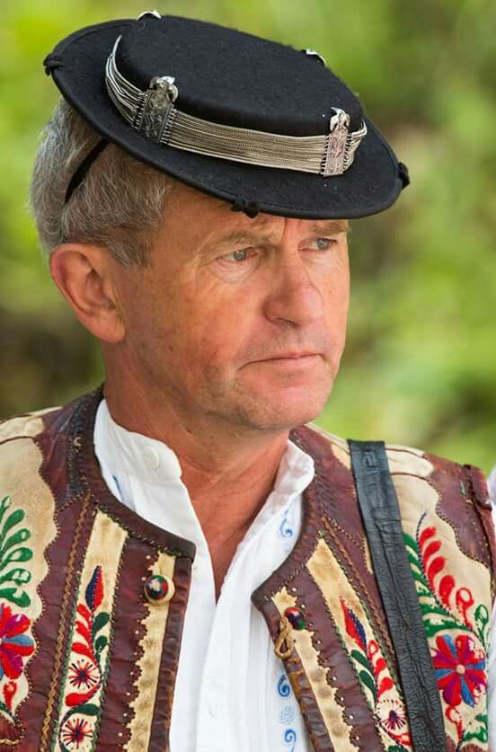 Slovakian Gentleman in colourful traditional clothing