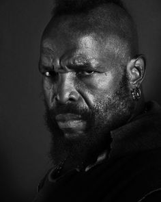 """Mr. T (born Laurence Tureaud), American actor. He is most known for his roles as B. A. Baracus in the TV series The A-Team, as boxer Clubber Lang in Rocky III (""""I pity the fool""""), & as a professional wrestler. He is known for his trademark African Mandinka warrior hairstyle, his gold jewelry, & his tough-guy image. He also starred as himself in the cartoon Mister T, which premiered in 1983 on NBC. His character was the owner of a gym where a group of gymnasts trained and all fought crime."""