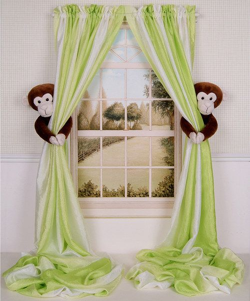 Love this Monkey Curtain Tieback - Set of Two by Curtain Critters on #zulily! #zulilyfinds