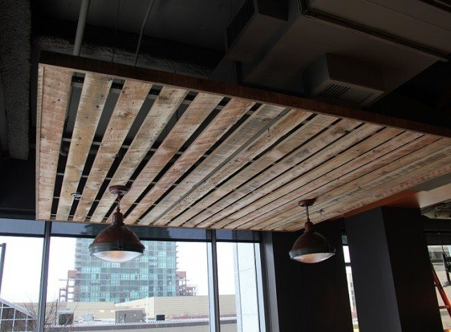 Reclaimed Wood Drop Ceiling Google Search Office Style