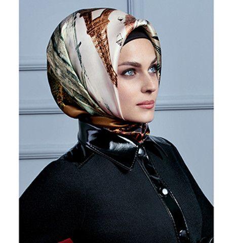 Armine Silk Hijab Scarf Fall 2015 - Winter 2016 #7230 – Modefa USA