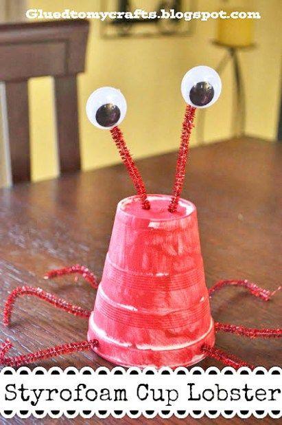 Styrofoam Cup Lobster {Kid Craft}