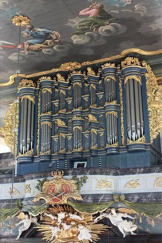 Det vakre Glogerorgelet i Kongsberg kirke er det største barokkorgelet i Norden.