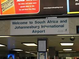 The Entry gate of the Johannesburg Airport, South Africa.