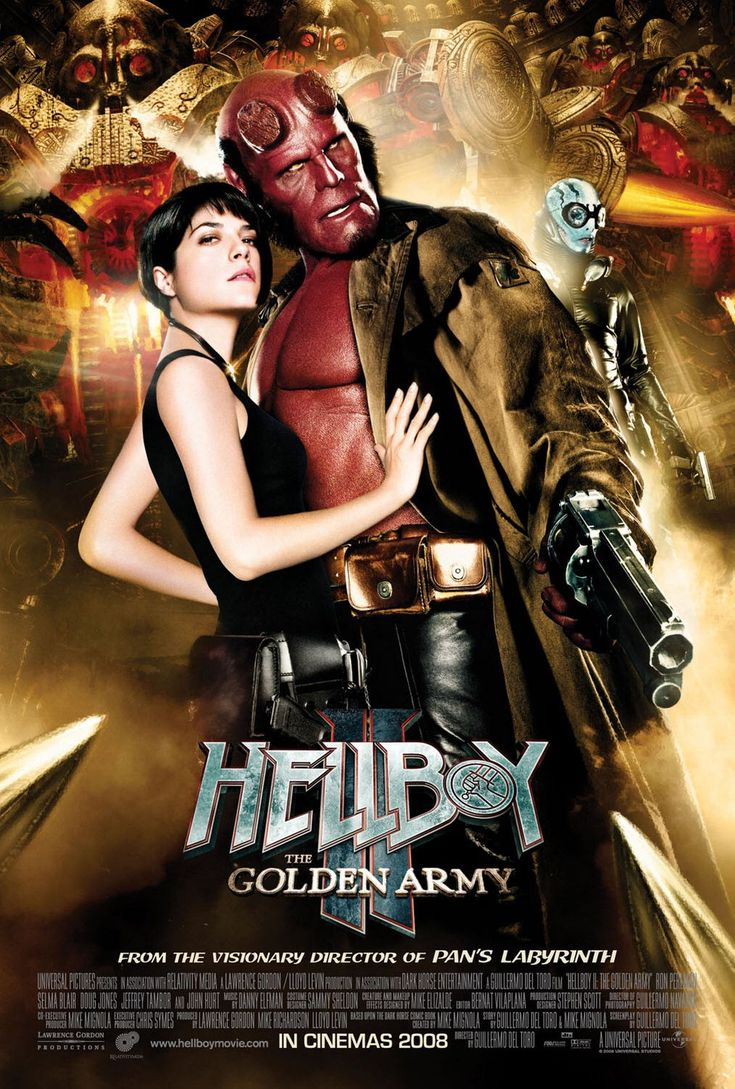 """MP390. """"Hellboy 2: The Golden Army"""" Promo Movie Poster by Empire Design (Guillermo del Toro 2008) / #Movieposter"""