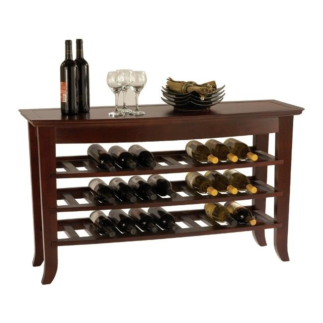 Console Table Wine Rack Foter Con