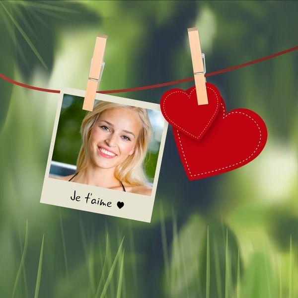Fotomontaggio Polaroid con il cuore per San Valentino - Pixiz