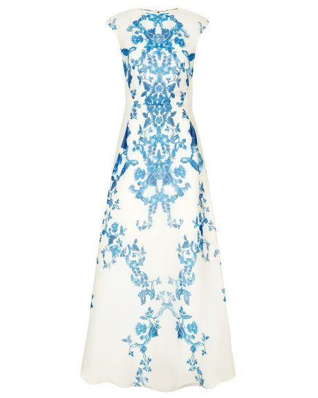 China blue print maxi dress - Cream | Maxi Dresses | Ted Baker UK