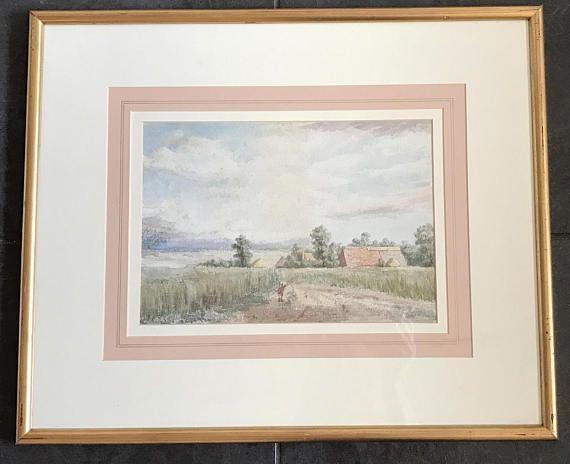 19th Century British School Scenic Landscape Watercolour Of