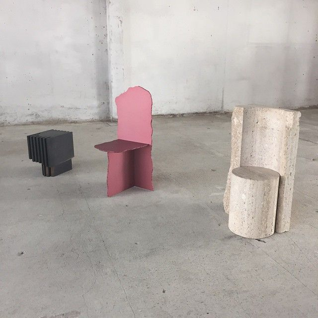 """soudasouda: @SoudaBrooklyn / fieldonline: Max Lamb """"Exercises in Seating"""" #salonedelmobilePosted by SoudaSouda Follow Souda on instagram, pinterest, facebook, or tumblr."""