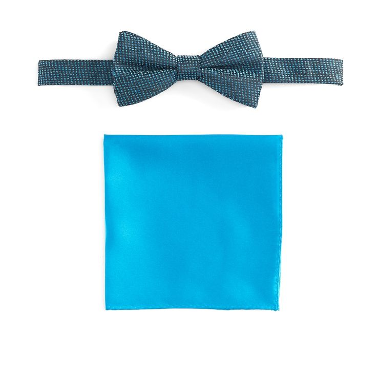 Men's Apt. 9® Pre-Tied Bow Tie and Pocket Square Set, Turquoise/Blue (Turq/Aqua)