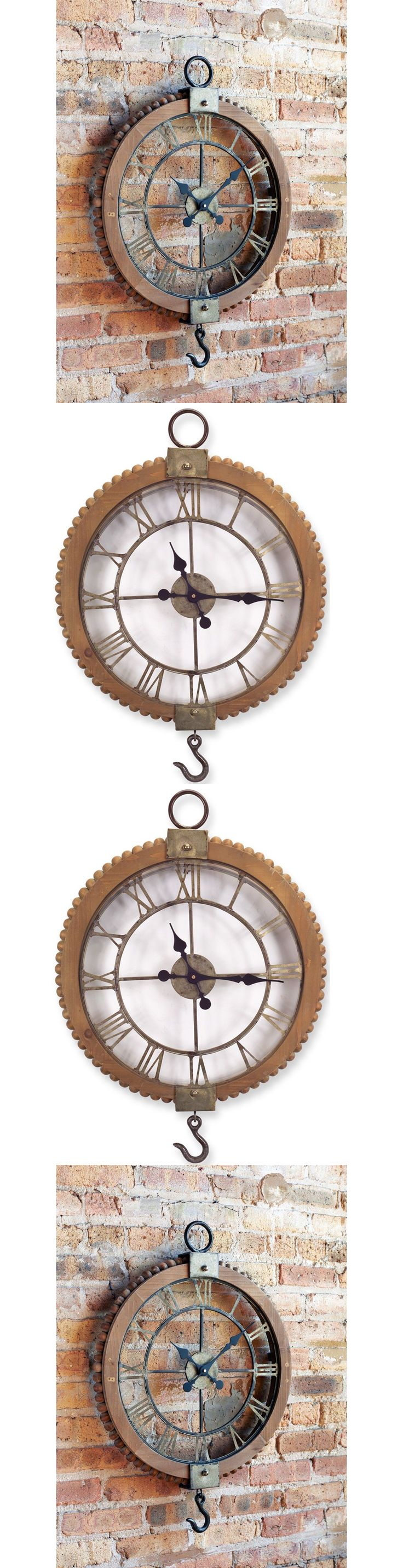Wall Clocks 20561: Vintage Industrial Wall Clock Rustic Pulley Style Roman Numeral 22 In. Round -> BUY IT NOW ONLY: $199.99 on eBay!