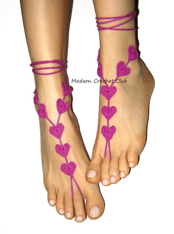 Sexy heart barefoot sandals, so hot and so sophisticated. This hand made foot…