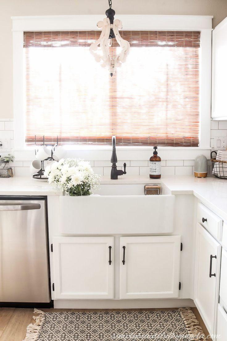 Diy farmhouse sink installation simply beautiful by
