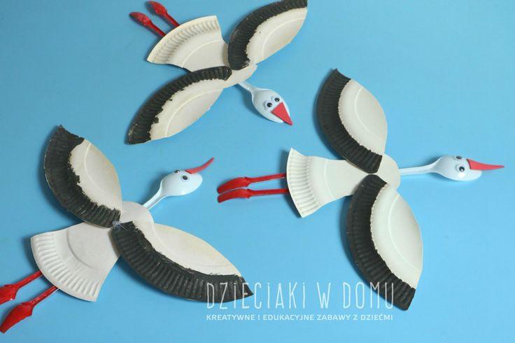 Paper Plate Stork - Fun Crafts Kids