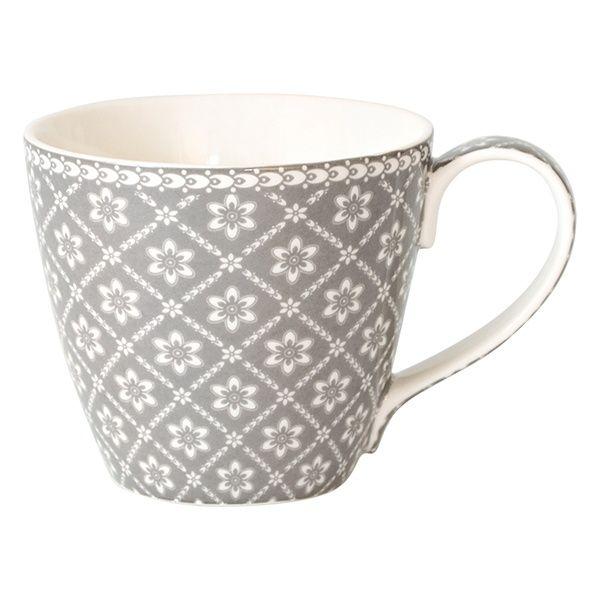 GreenGate Stoneware Mug Alba Warm Grey H 9,5 cm | NEW! GreenGate Autumn/Winter 2014 | Originated-Shop