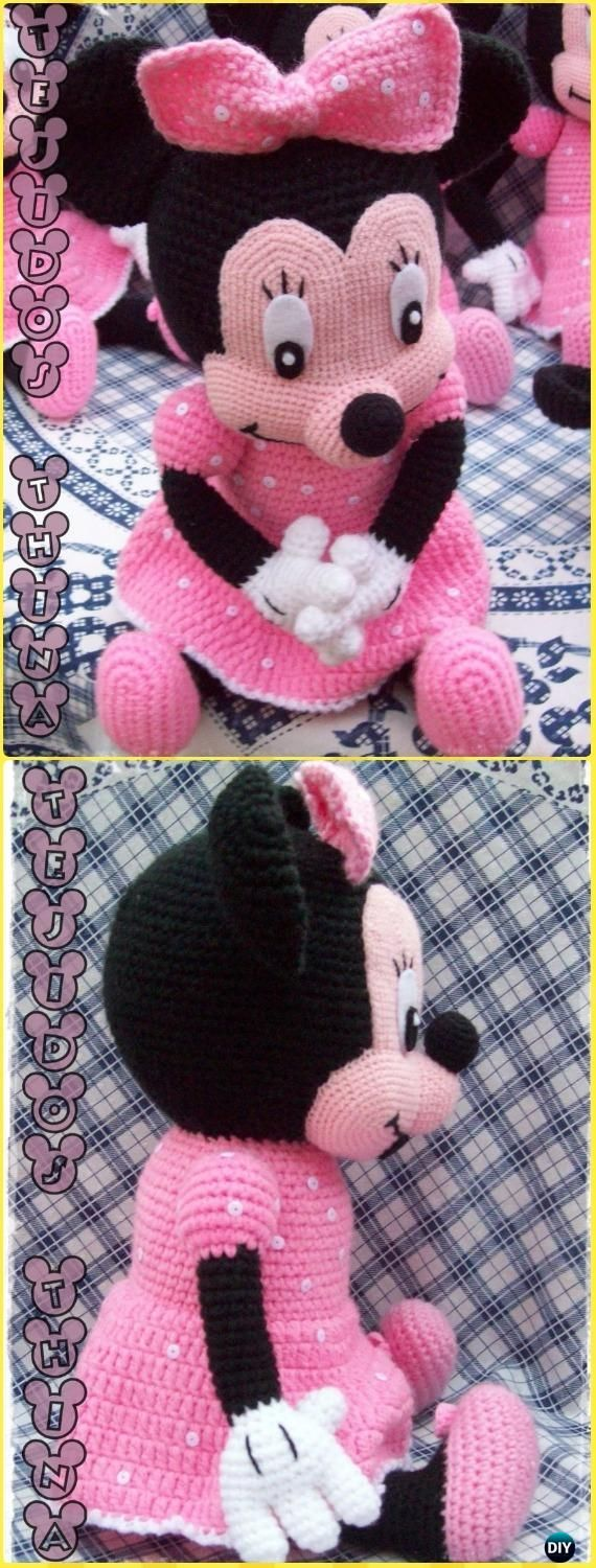 Crochet Minnie Mouse Amigurumi Free Pattern - Amigurumi Crochet Mouse Toy Softie...