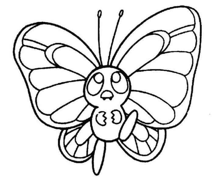 Butterfree Pokemon Coloring Pages Butterfly Coloring Page Pokemon Coloring Pages Valentines Day Coloring Page