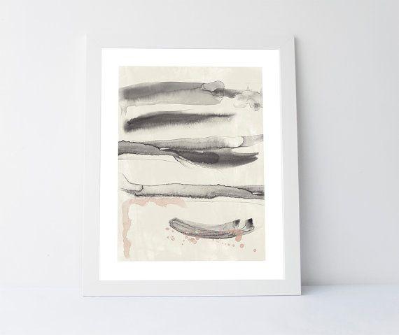 Winter morning abstract art print printable by PrintableGiftIdeas
