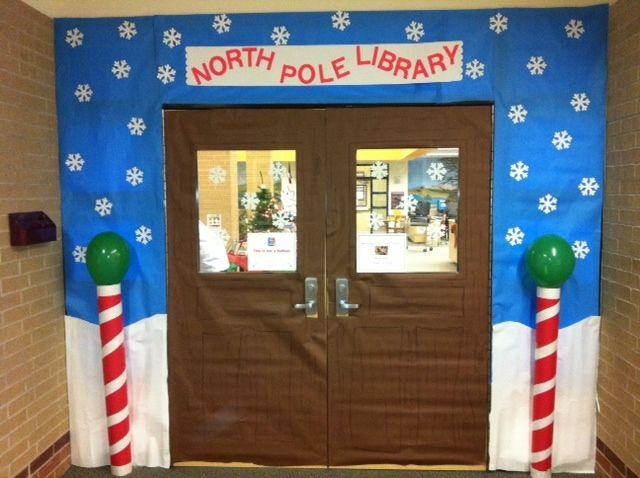 Crjh Library December Door Decor Contest Entry Welcome