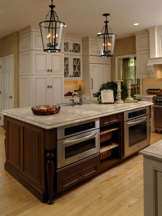 Oven and microwave in island the dream house pinterest