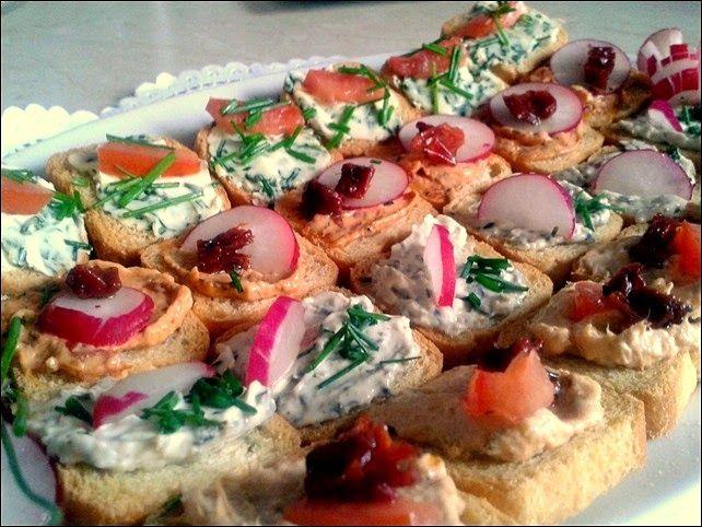 Małe kanapeczki na imprezę   Szysia