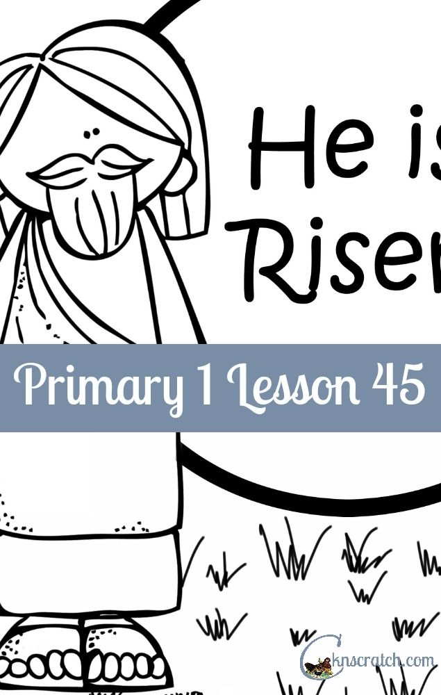 Lesson Helps And Handouts For Primary 1 45