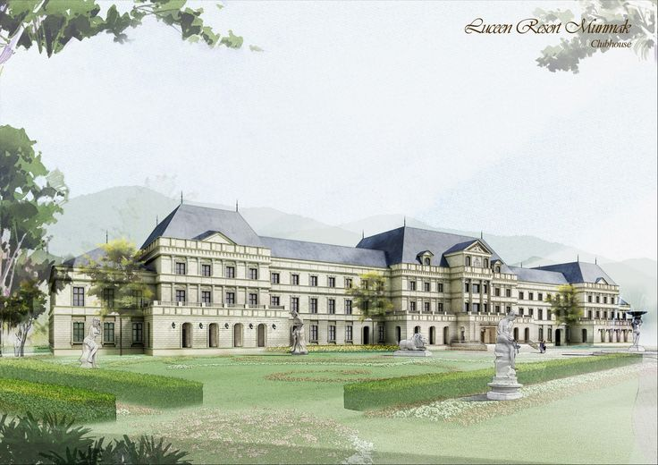 "Club House Type-2 (Baroque Style), ""DAEMYUNG LUCEEN RESORT : Culture Theme Resort CG Perspective View / ""대명 루첸 리조트"" 클럽하우스 타입2. 투시도"