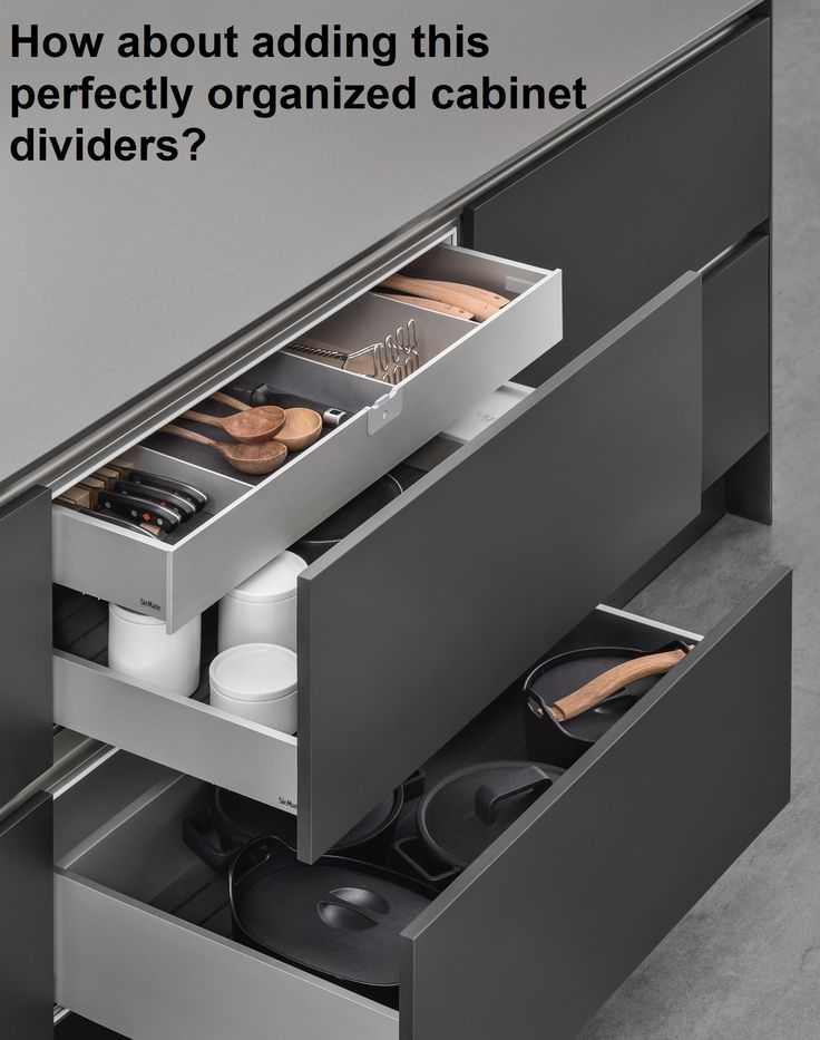 Organise your kitchen today! For more visit @ https://www.maier.co.nz/kitchen/dividers-cutlery-trays.html #kitchen #cabinetdivider #aucklandcabinet #Maier