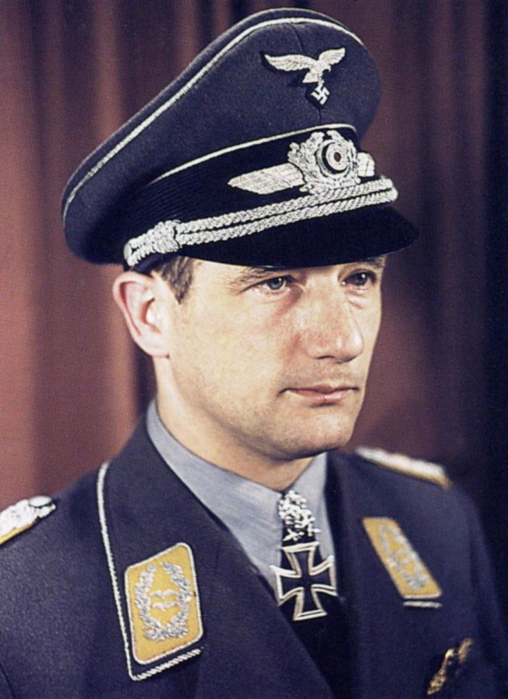 Gordon Max Gollob (16 June 1912, Vienna – 8 September 1987) was an Austrian-born German flying ace in the Luftwaffe from 1938 to 1945 during World War II. He rose to the position of General der Jagdflieger, and was one of only 27 to receive the Knight's Cross of the Iron Cross with Oak Leaves, Swords and Diamonds. Gollob was credited with 150 aerial victories achieved in 340 missions. He recorded 144 victories over the Eastern Front.