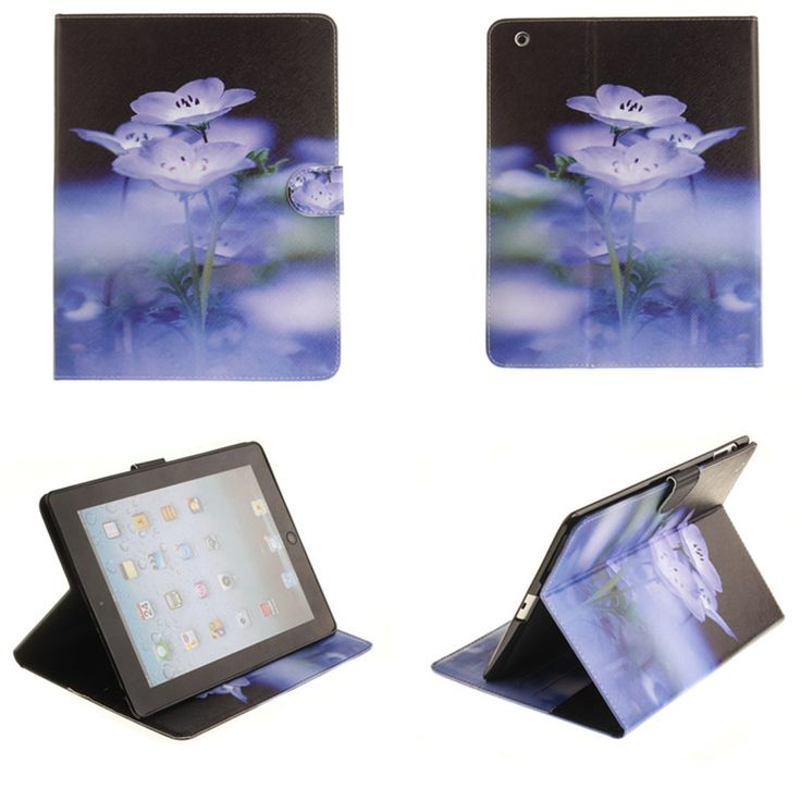 TX For Coque iPad 2 3 4  PU Leather Case Print Paiting Flip Folio Book Stand Case For Apple iPad2 ipad3 ipad4 Wallet Cute Cover