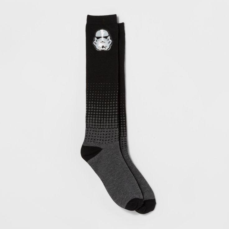 Women's Light Up Star Wars Storm Trooper Knee High Socks - Heather Gray 9-11