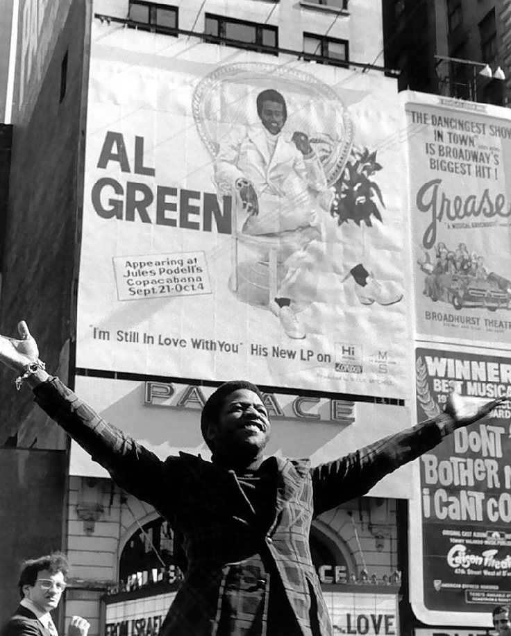Al Green, NYC, 1972 by Bob Gruen