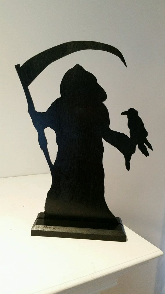 Grim Reaper Silhouette Made Of Wood By