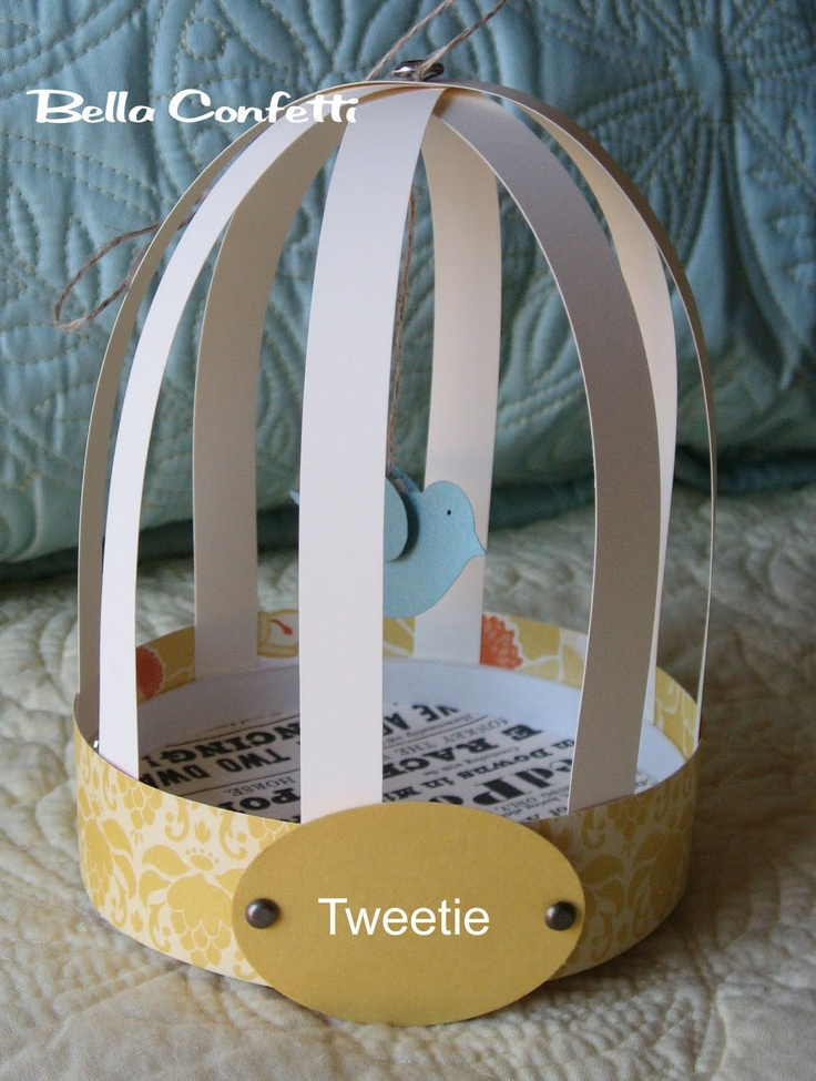 Printable Paper Bird Cage