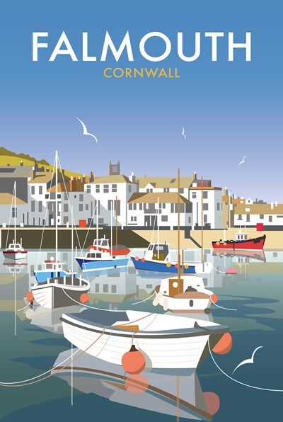 Falmouth Print at Whistlefish Galleries - handpicked contemporary & traditional art that is high quality & affordable. Available online & in store